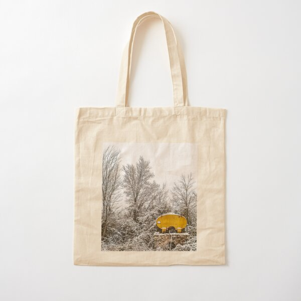 Cistern under the snow. Cotton Tote Bag