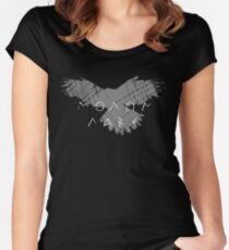 MOLON LABE white Women's Fitted Scoop T-Shirt