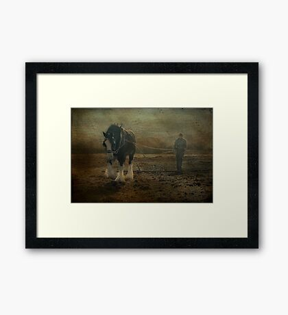 The Land Girl Framed Print
