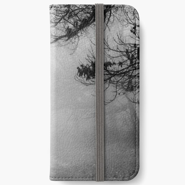 Dog in the mist. iPhone Wallet