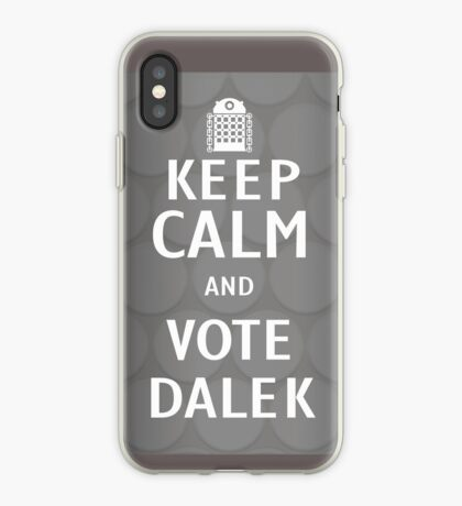 Keep calm and vote Dalek iPhone Case