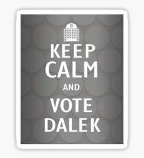 Keep calm and vote Dalek Sticker