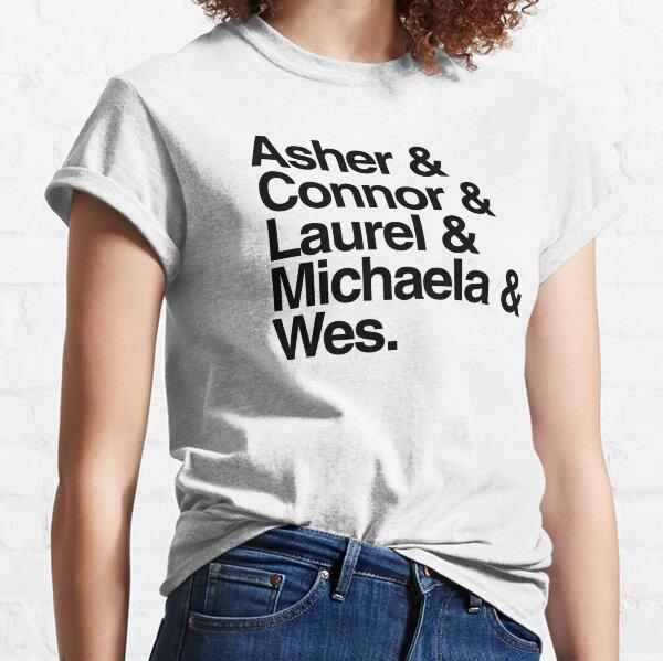 Nombres htgawm: tipografía minimalista Camiseta clásica