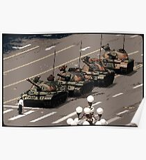 Tank Man – History in Pixels Poster