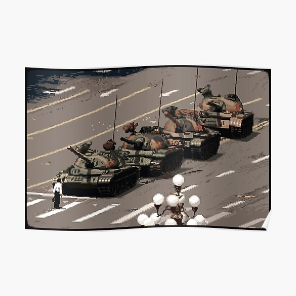 Tank Man – History in Pixels Poster