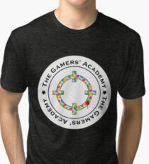 White logo on Black/Dark Tri-blend T-Shirt