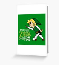 Call Me Zelda One More Time Greeting Card