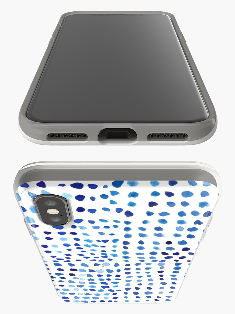 Alternate view of  Blue Watercolor Dots iPhone Case & Cover