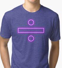 Division sign (neon)  Tri-blend T-Shirt