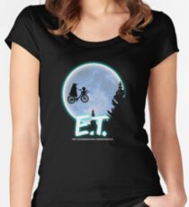 Exterminating Terrestrials Women's Fitted Scoop T-Shirt