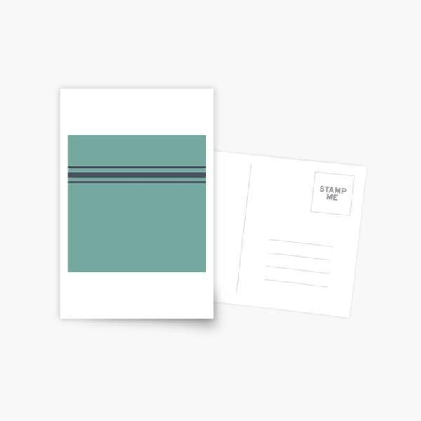 Utility stripes in blue  Postcard