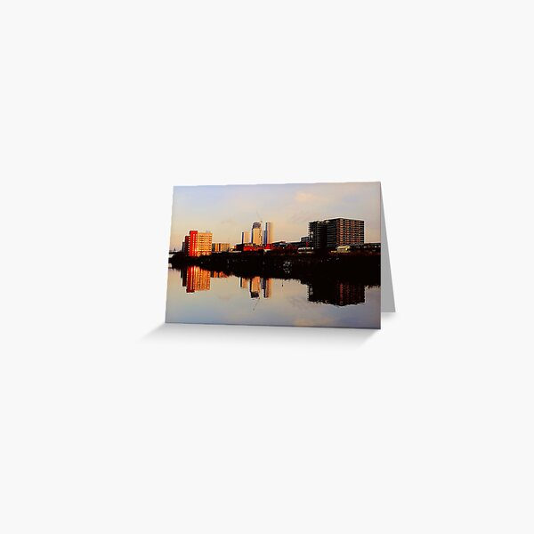 New reflections, Manchester Greeting Card