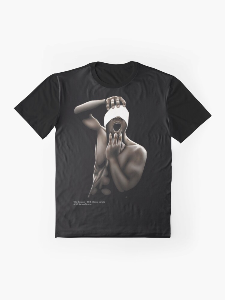 Alternate view of Descended (Color pencil drawing) Graphic T-Shirt
