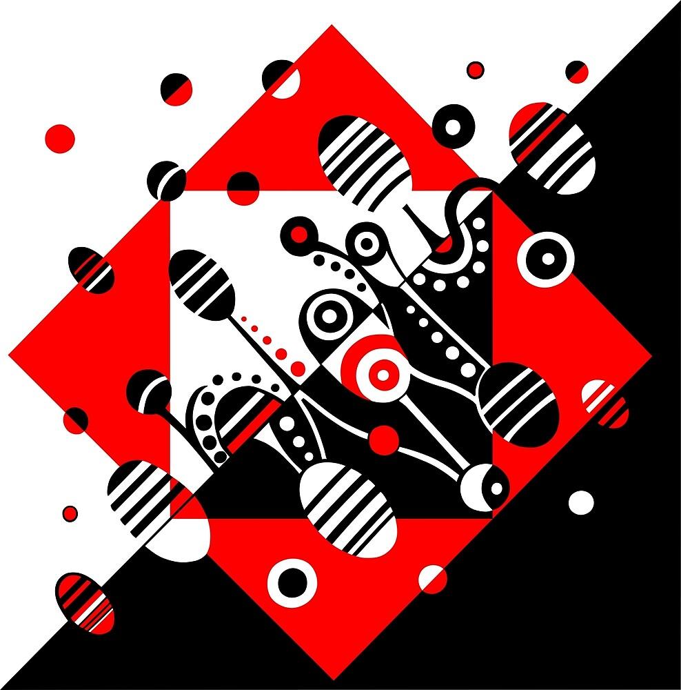 MICROGRAVITY - RED & BLACK by DeyanaDeco