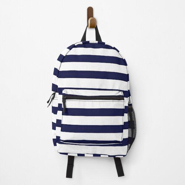 Navy Stripe Backpack