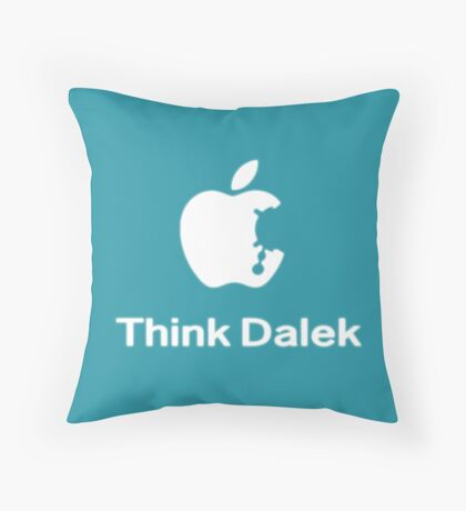 Think Dalek  Throw Pillow