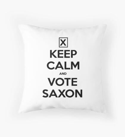 Vote Saxon - White Throw Pillow