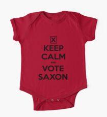 Vote Saxon - White One Piece - Short Sleeve