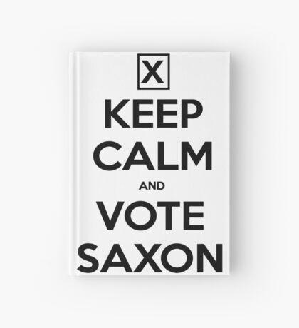 Vote Saxon - White Hardcover Journal