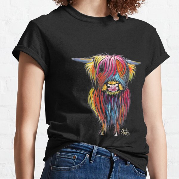 Hier ist einer meiner haarigen Highland Cow Prints 'BRAVEHEART'.  Ich hoffe er bringt dich zum LÄCHELN!  Ich wünsche Ihnen einen schönen Tag .............. Shirley x Classic T-Shirt