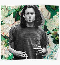 Junge Johnny Depp Kunst Poster