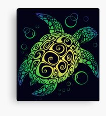 Sea Turtle T-Shirt Canvas Print
