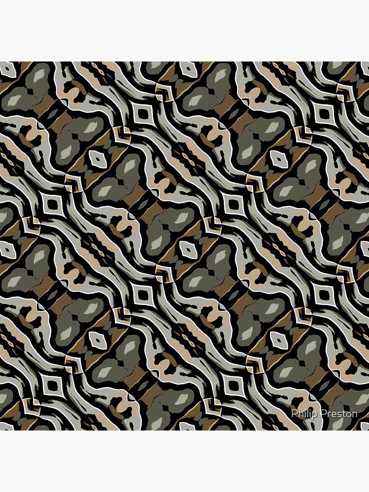 Modern Abstract Grey Black Wave Pattern Design 1777 by prestonphoto