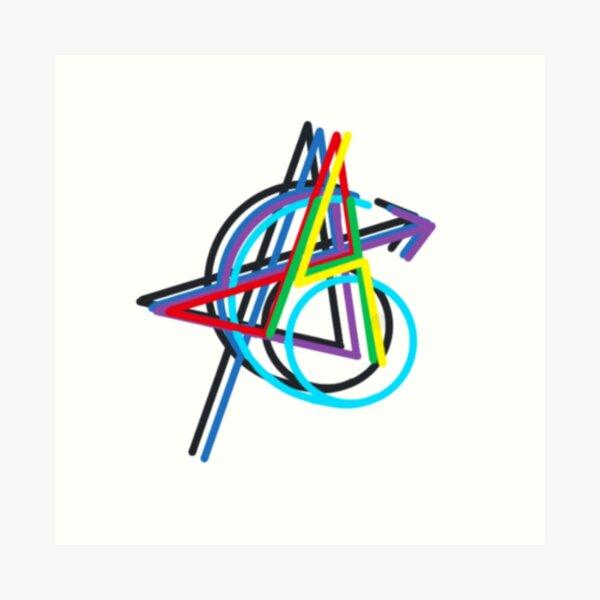 Avengers Simple Logo Art Print