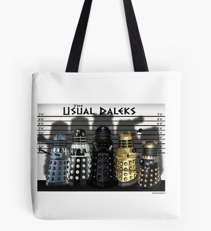 The Usual Daleks Tote Bag