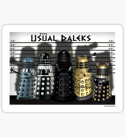 The Usual Daleks Sticker