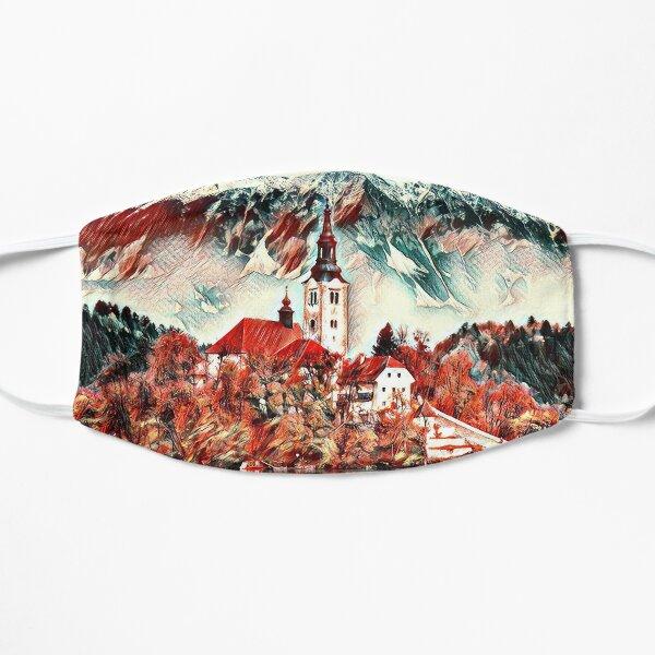 Lake Bled Castle  Flat Mask