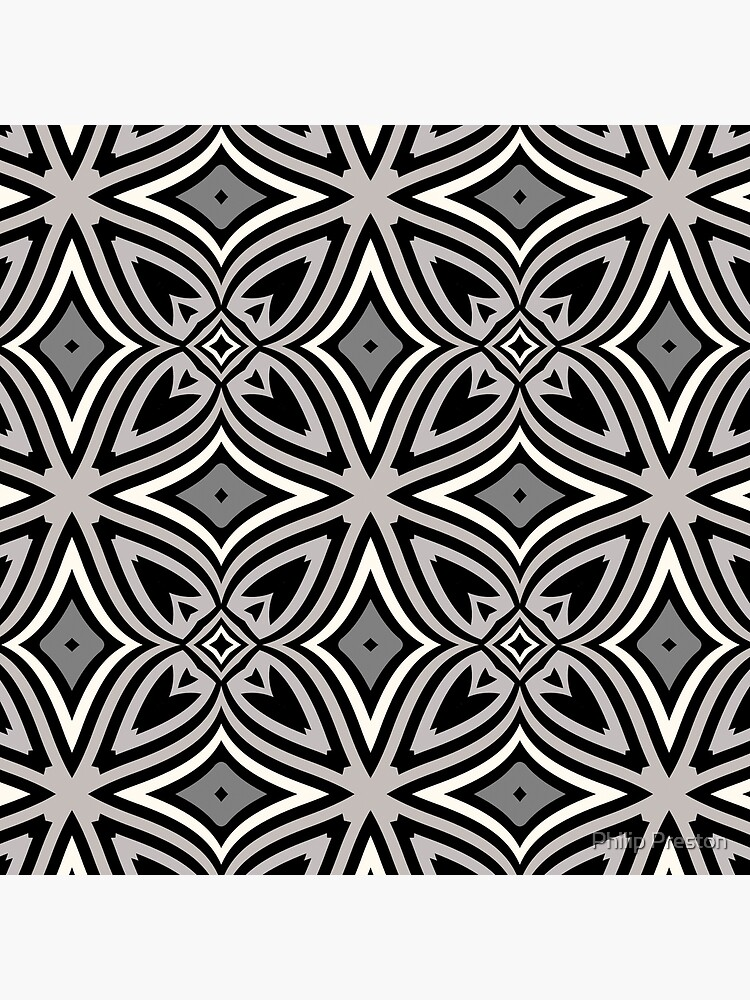 Modern Geometric Abstract Grey Black Pattern Design 1779 by prestonphoto