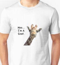 Camiseta unisex Moo Giraffe Cabra