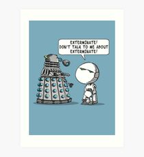 Marvin meets Who? Art Print