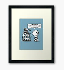 Marvin meets Who? Framed Print