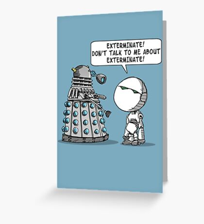 Marvin meets Who? Greeting Card