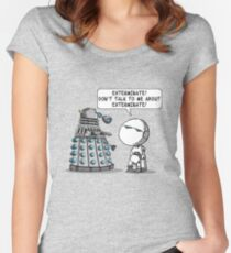 Marvin meets Who? Women's Fitted Scoop T-Shirt