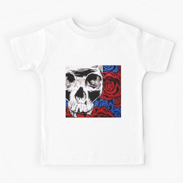 deftones SKULL COVER FLOWER Kids T-Shirt