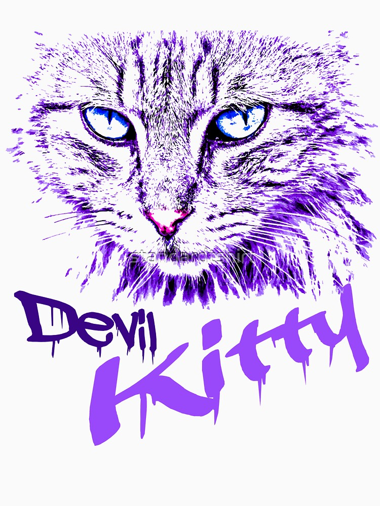 Graphics Cat Art Abstract Devil Kitty Abstract Cat Design Artistic Cat Design by standardtshirt
