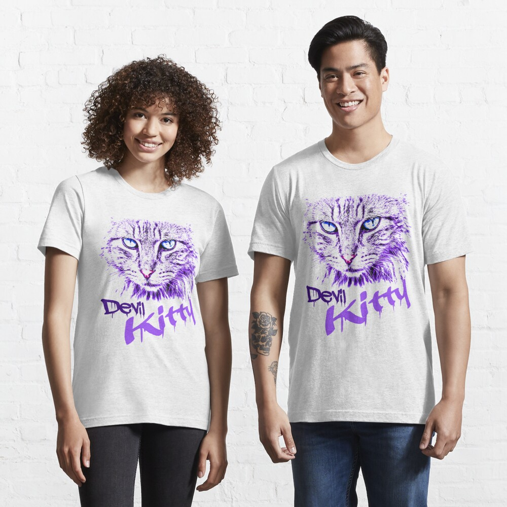 Graphics Cat Art Abstract Devil Kitty Abstract Cat Design Artistic Cat Design Essential T-Shirt