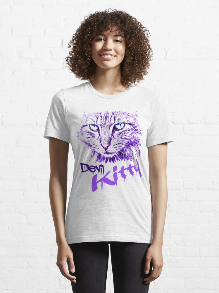 Alternate view of Graphics Cat Art Abstract Devil Kitty Abstract Cat Design Artistic Cat Design Essential T-Shirt
