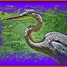 Gray Heron in 3D by glink