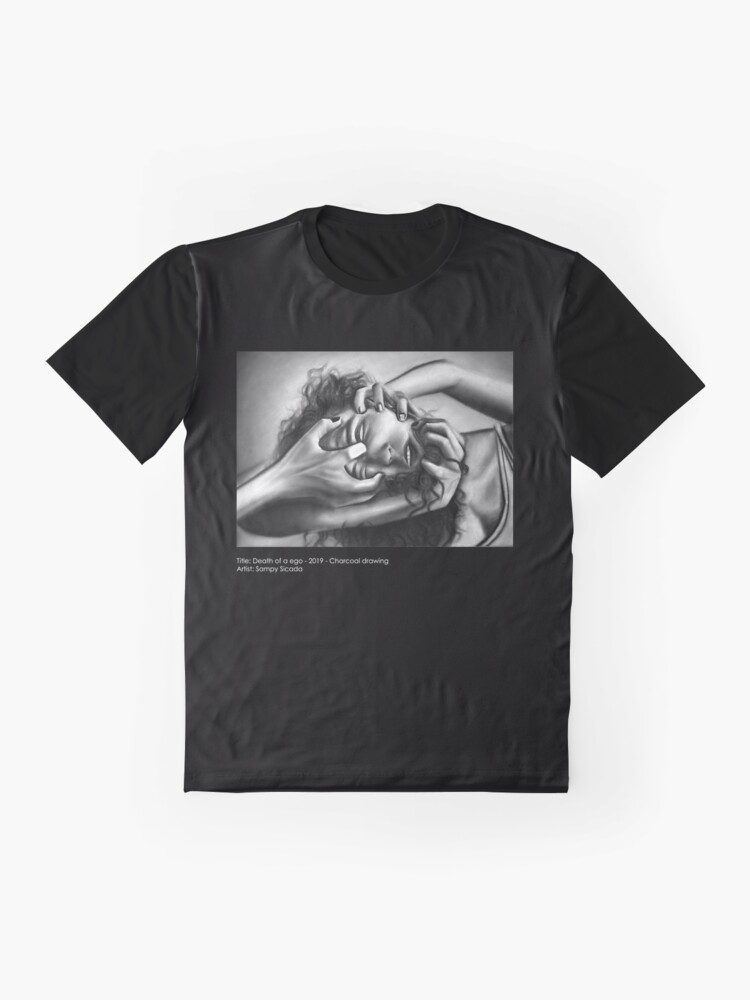 Alternate view of Death of an ego (Charcoal drawing) Graphic T-Shirt