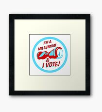 I'm a Millennial And I Vote Framed Print