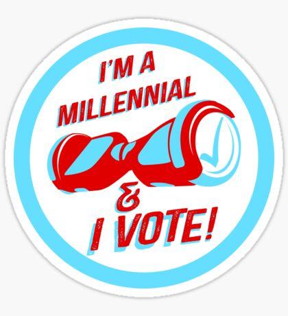 I'm a Millennial And I Vote Sticker