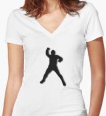 SHADOW PELÉ Women's Fitted V-Neck T-Shirt