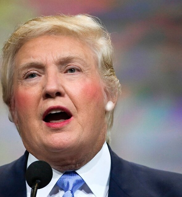 Funny Donald Clinton Face Morph by Kitty Bitty