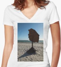 hand 2 Women's Fitted V-Neck T-Shirt