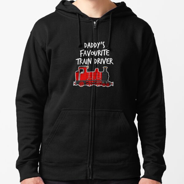 I LIKE TRAINS  XMAS GIFT BIRTHDAY KIDS HOODIE