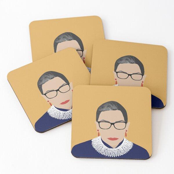 Ruth Bader Ginsburg Untersetzer (4er Set)